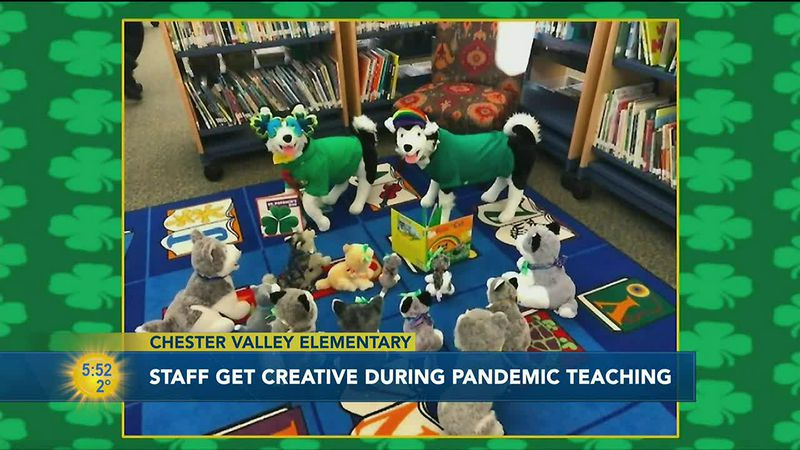 At Chester Valley Elementary School the staff has used stuffed animals to help keep kids...