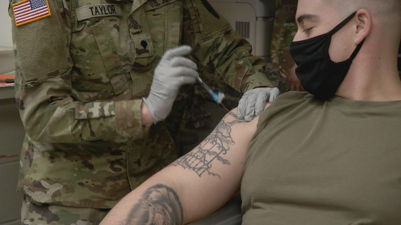 Alaska's Spartan Brigade starts soldier vaccinations on JBER