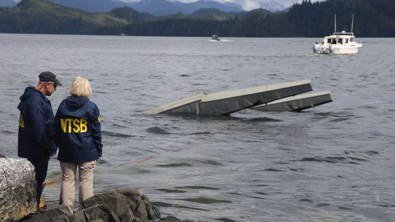 KETCHIKAN, Alaska (May 15, 2019) — NTSB investigator Clint Crookshanks and Member...