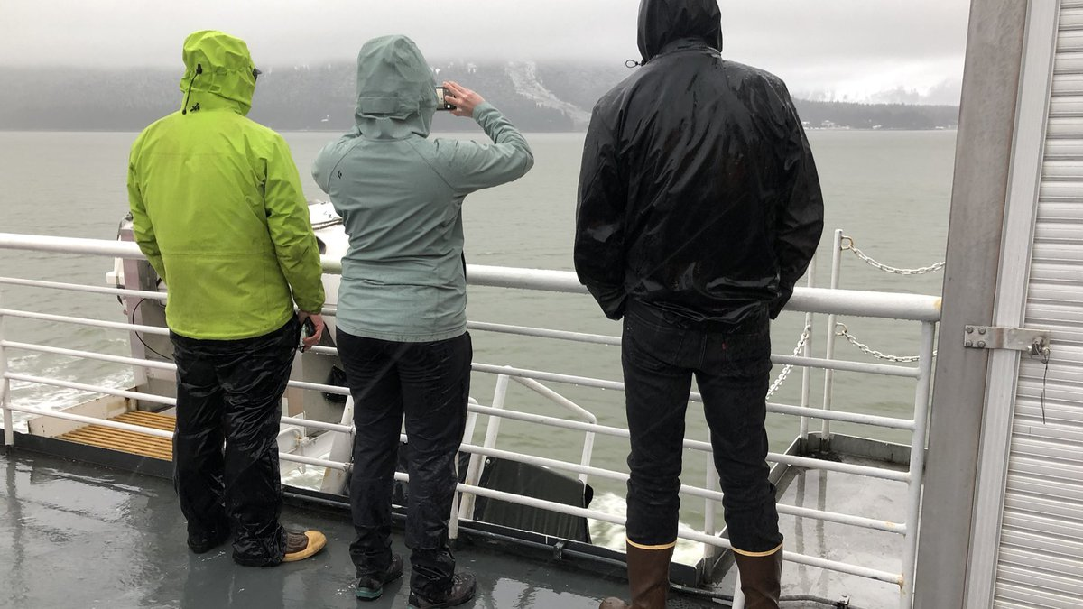 Scientists took the LeConte ferry from Juneau to Haines to study a landslide that has resulted...
