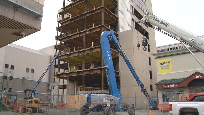 The Key Bank Building in downtown Anchorage is undergoing a $60 million remodel.