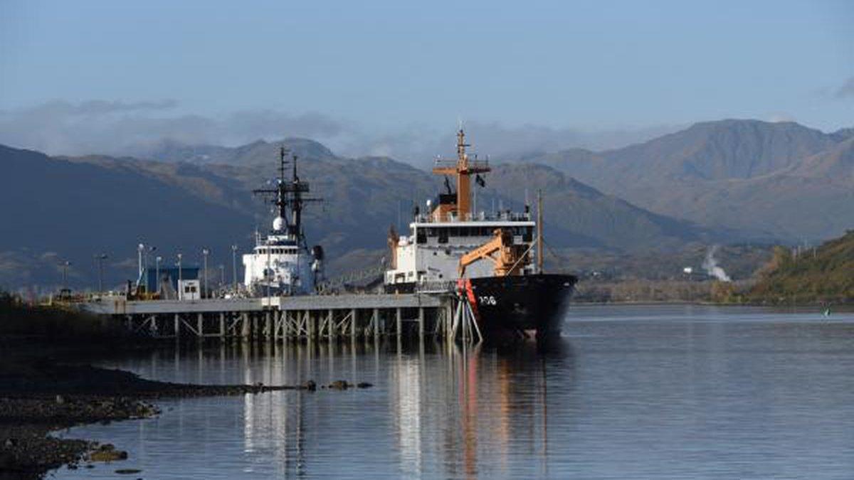 The Douglas Munro sits moored at Kodiak. Image from USCG.