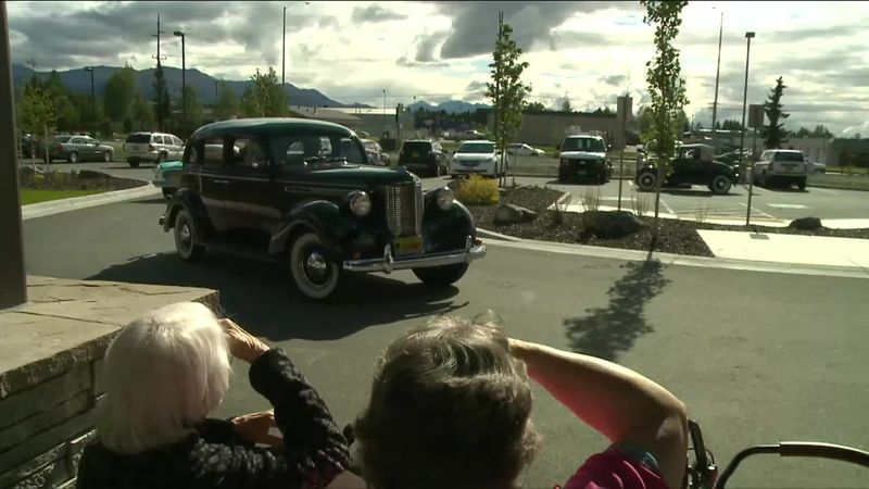Aspen Creek Senior Living antique car parade