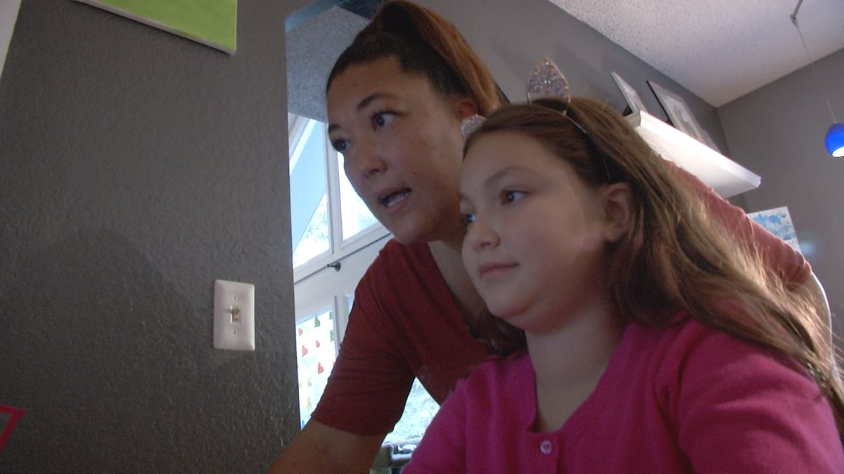 Jen Motyka works with daughter Nova on ASD Virtual