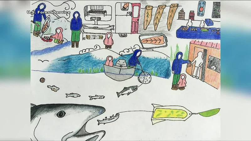 Kids are asked to submit a drawing of a specific fish, and students who are in 4th grade and...