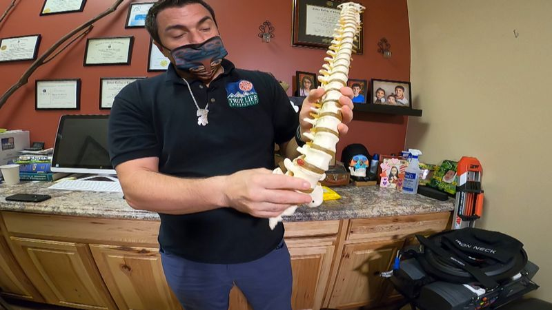 Dr. Mike Michaud at True Life Chiropractic explaining what happens to your spine while sitting...