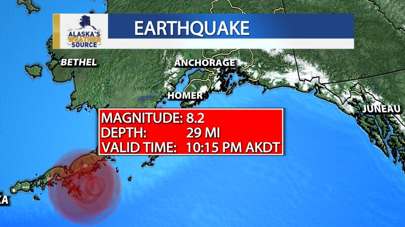 This graphic shows the location and preliminary magnitude of an earthquake that struck at 10:15...