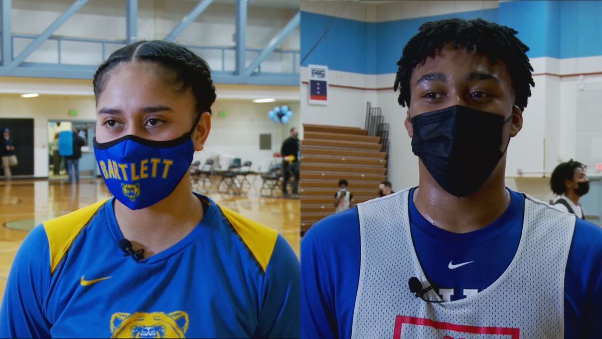 2021 Cook Inlet Conference High School Basketball MVP's (left) Bartlett's Amelia 'Uhila (right)...