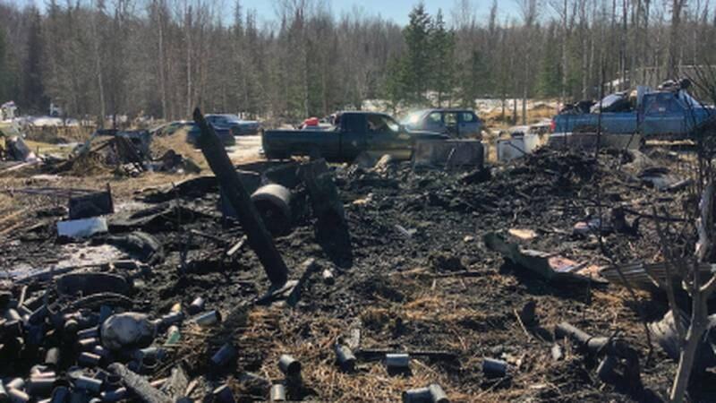 Burlwood Fire, April 19, 2021 (Kevin Lankford/Alaska Division of Forestry)