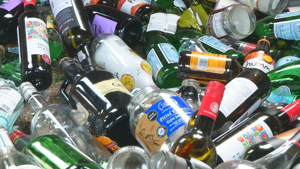 Anchorage glass recycling.
