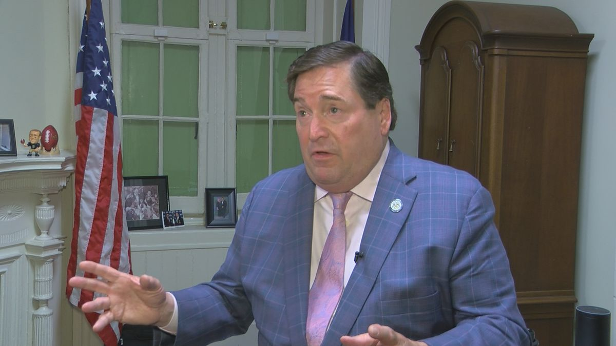 Louisiana Lt. Gov. Billy Nungesser (R) gestures as he lays out his case against state plans for...
