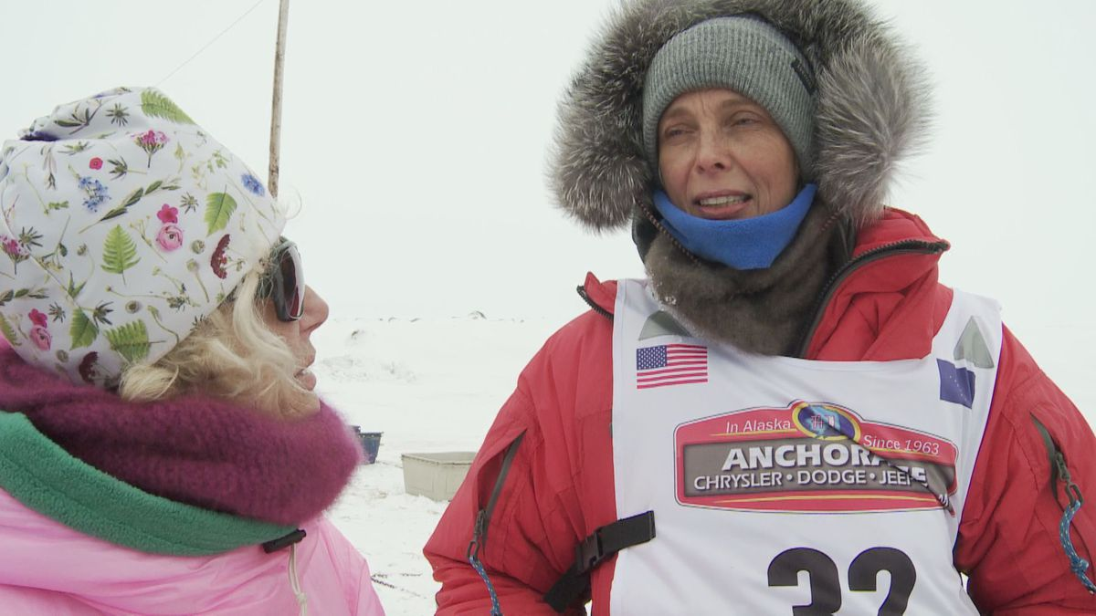Mille Porsild and DeeDee Jonrowe discuss Porsild's 2020 Iditarod race. (KTUU)