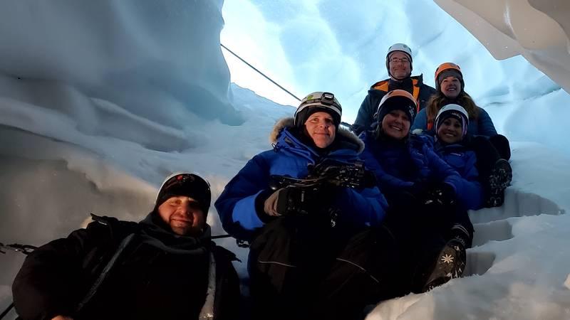 Inside the Ruth Glacier in Denali National Park and Preserve.