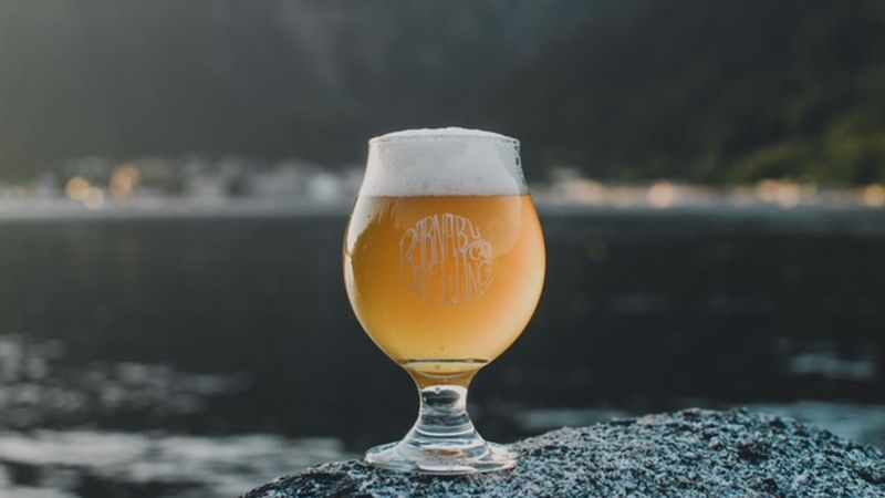 The Berry Fresh 2020 overlooking Juneau. One of the beers from Barnaby Brewing Co. that won a...
