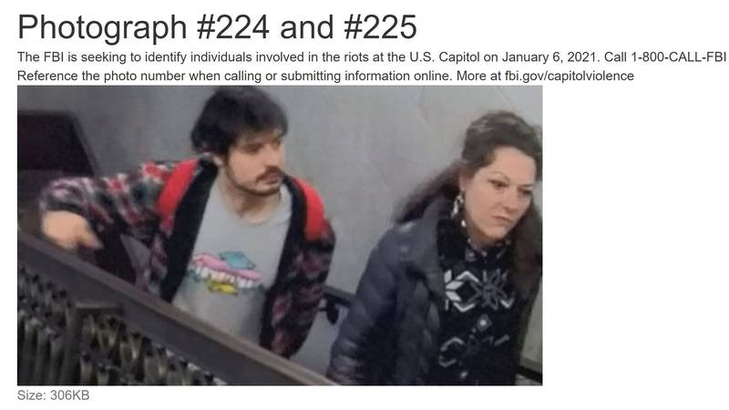 This screenshot from the FBI's fugitive website shows a New York woman and her son who have...