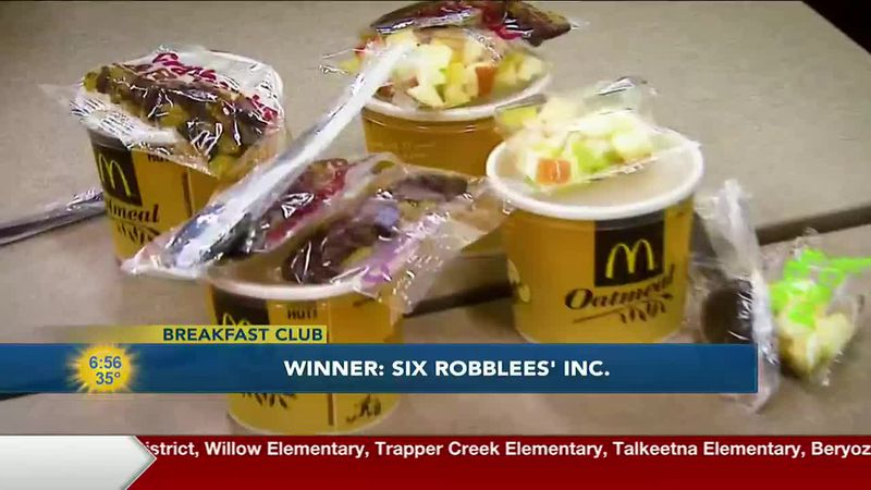 This week's breakfast club winner was Six Robblees' Inc.