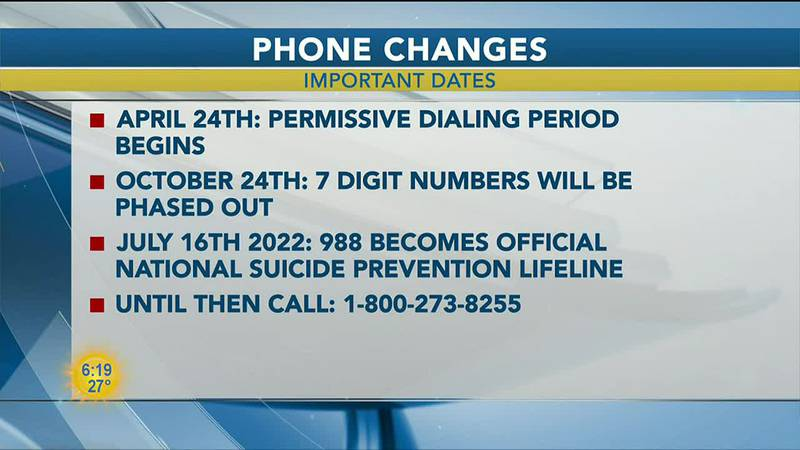In July 2022, 988 will simplify the National Suicide Prevention Lifeline number, before that...