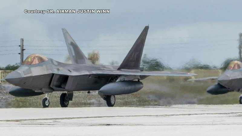 F-22's from JBER's 525th Fighter Squadron in Guam