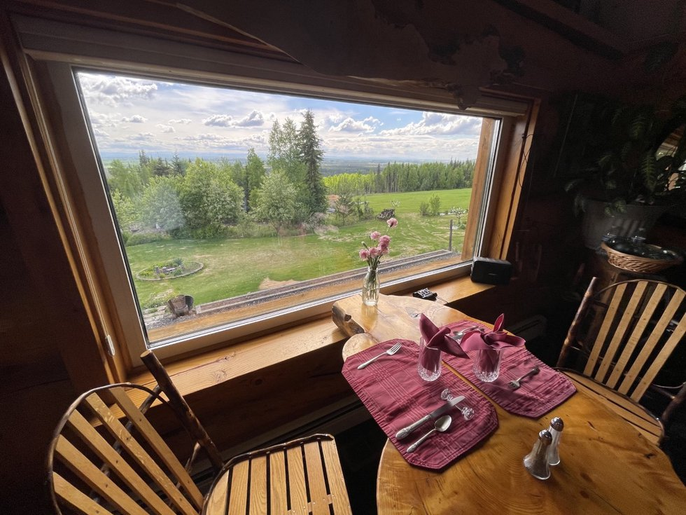 View from the window at A Taste of Alaska Lodge