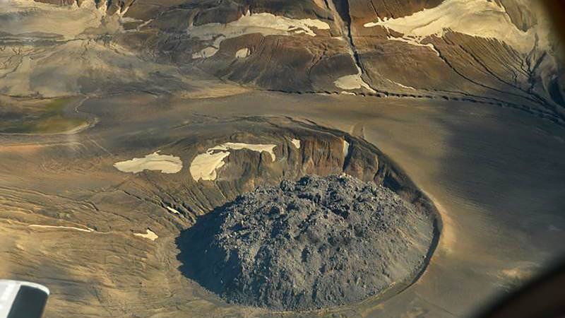 This Aug. 20, 2010 photo provided by the U.S. Geological Survey shows the lava dome named...