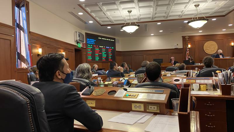 The Alaska House of Representatives debates the 2021 Permanent Fund dividend on Monday, Aug....