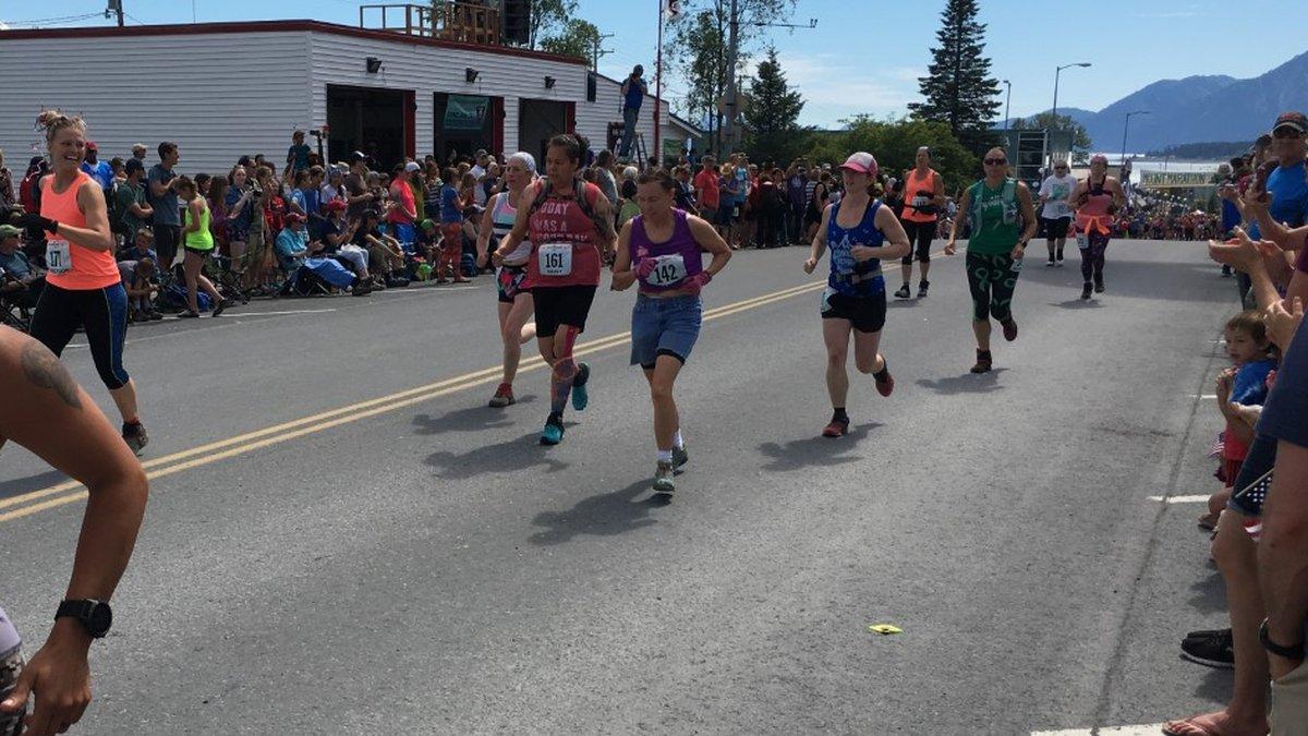 Mount Marathon Race in Seward, Alaska.