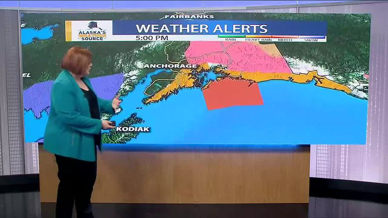 A new storm is approaching the southern coast of Alaska bringing rain, snow and high winds.