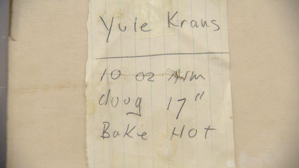 Yule Krans recipe.