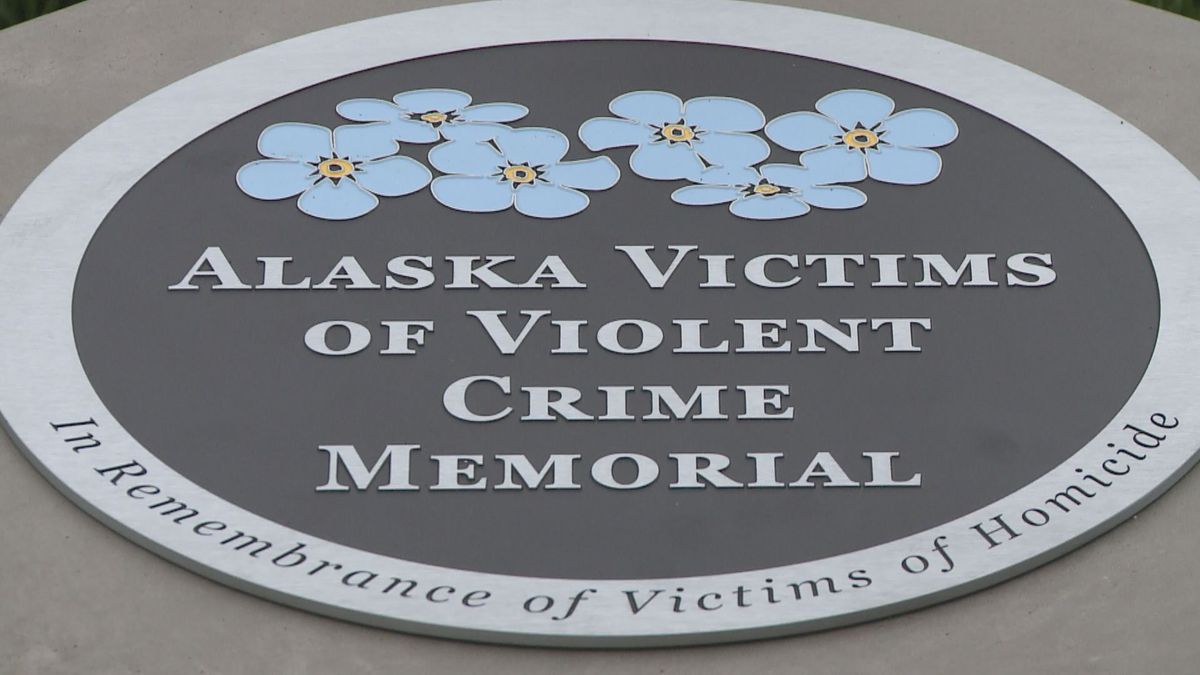 Victims for Justice put the final touches on a revamped Hostetler Park in Anchorage Saturday. (KTUU)