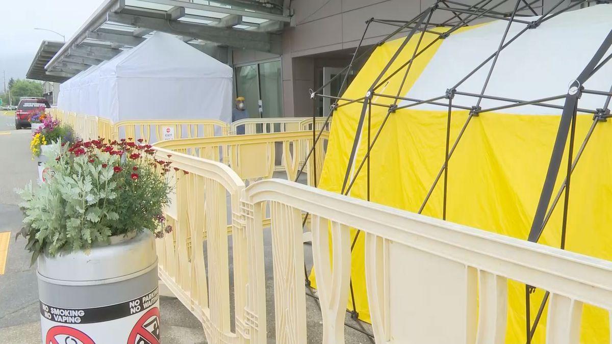 COVID-19 testing facilities at the Juneau International Airport.