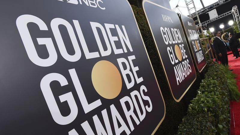 Signage promoting the 77th annual Golden Globe Awards and NBC appears in Beverly Hills, Calif....