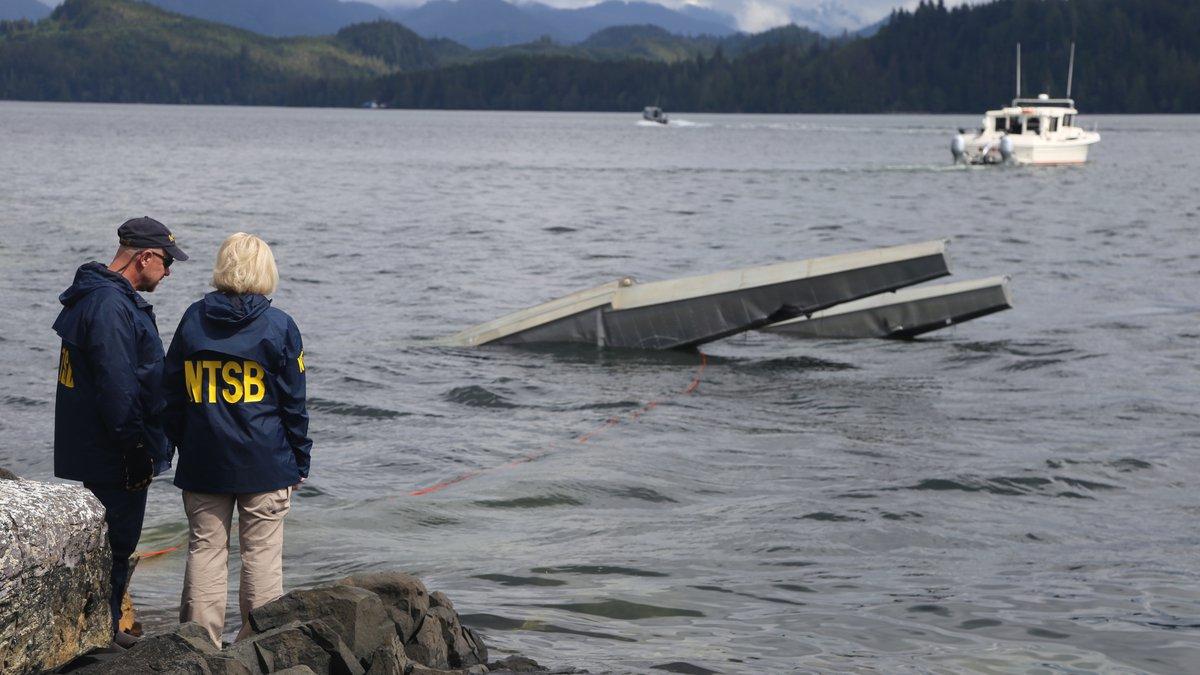 KETCHIKAN, Alaska (May 15, 2019) — NTSB investigator Clint Crookshanks and Member...