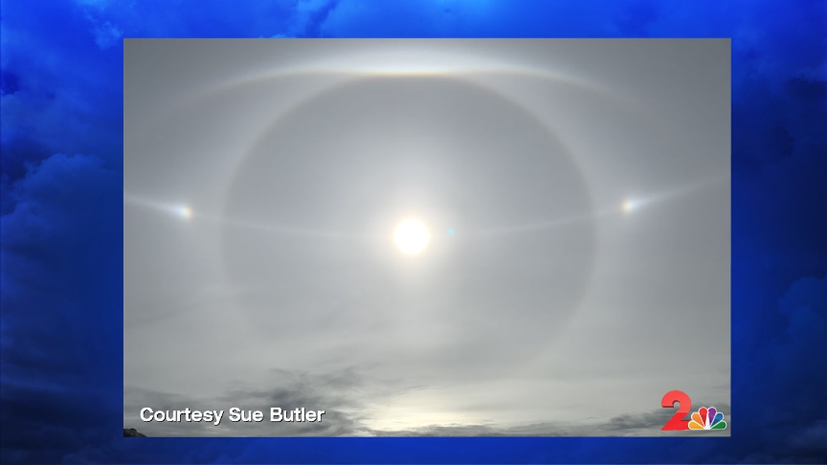 Sue Butler captured this great image of a full sundog and several other rare light arcs.