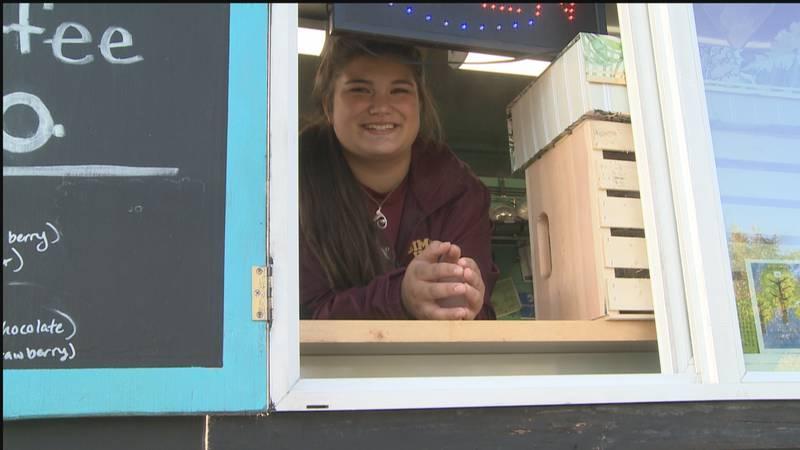 Kaylee Rickard-Ramos, 15, opens up coffee shop on wheels.