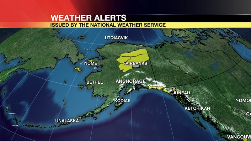 Winter Weather Advisories are in place across much of the Interior and Southeast areas of the...