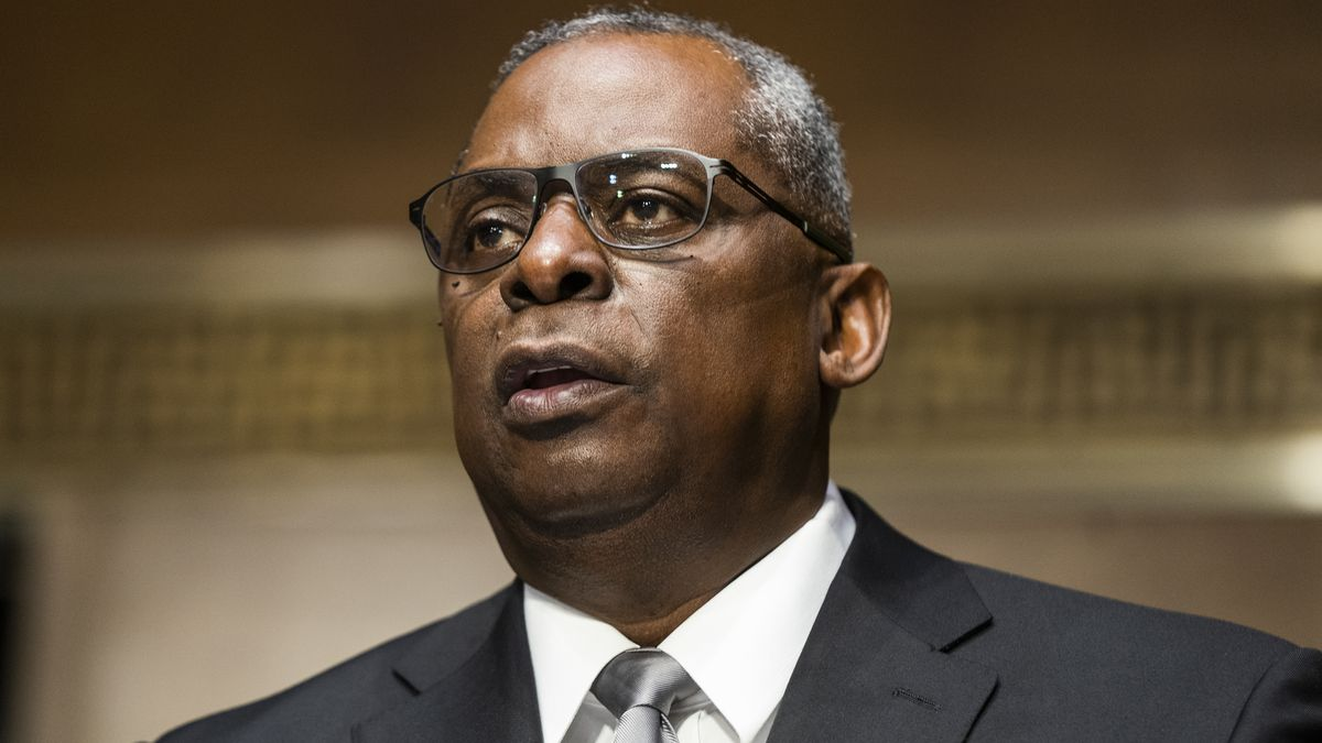 Secretary of Defense nominee Lloyd Austin, a recently retired Army general, speaks during his...