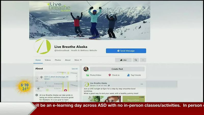 Wellness Facebook page for Alaskans created by local dentist.