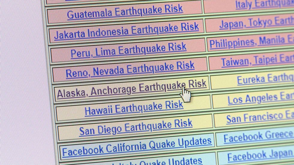Scientists say don't be fooled by a website that claims to predict earthquakes