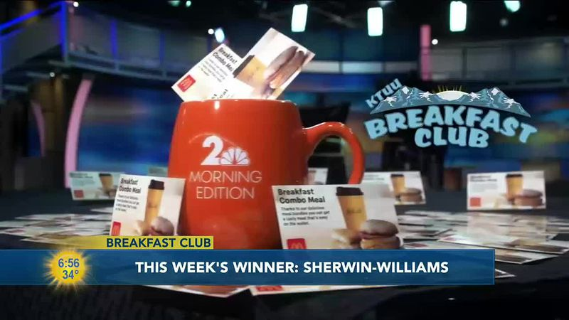 Breakfast club winner Sherwin Williams Paint Store.