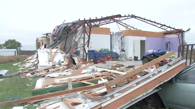 Homes were ripped apart in Missouri by a suspected tornado.