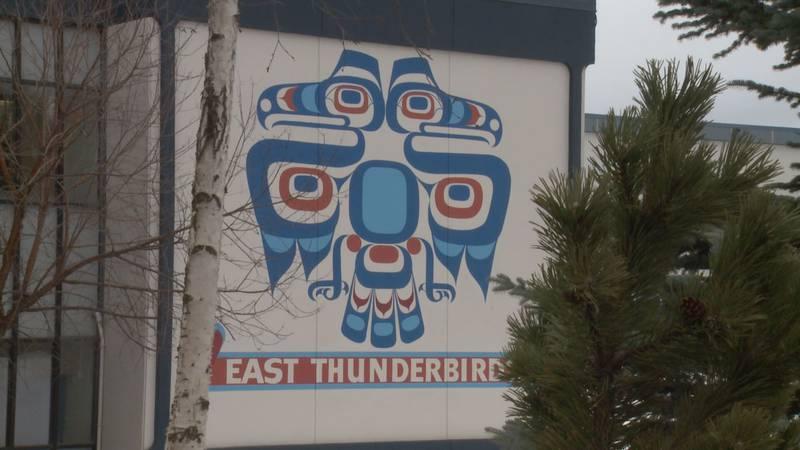 East Anchorage High School Thunderbird. (KTUU)