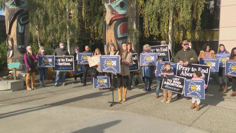 "Alaskans for Judicial Reform launch ""No on Carney"" campaign in Anchorage on Oct 5. 2020."
