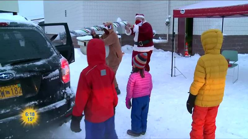 At Lake Otis Elementary School this week parents were able to get their children a little...