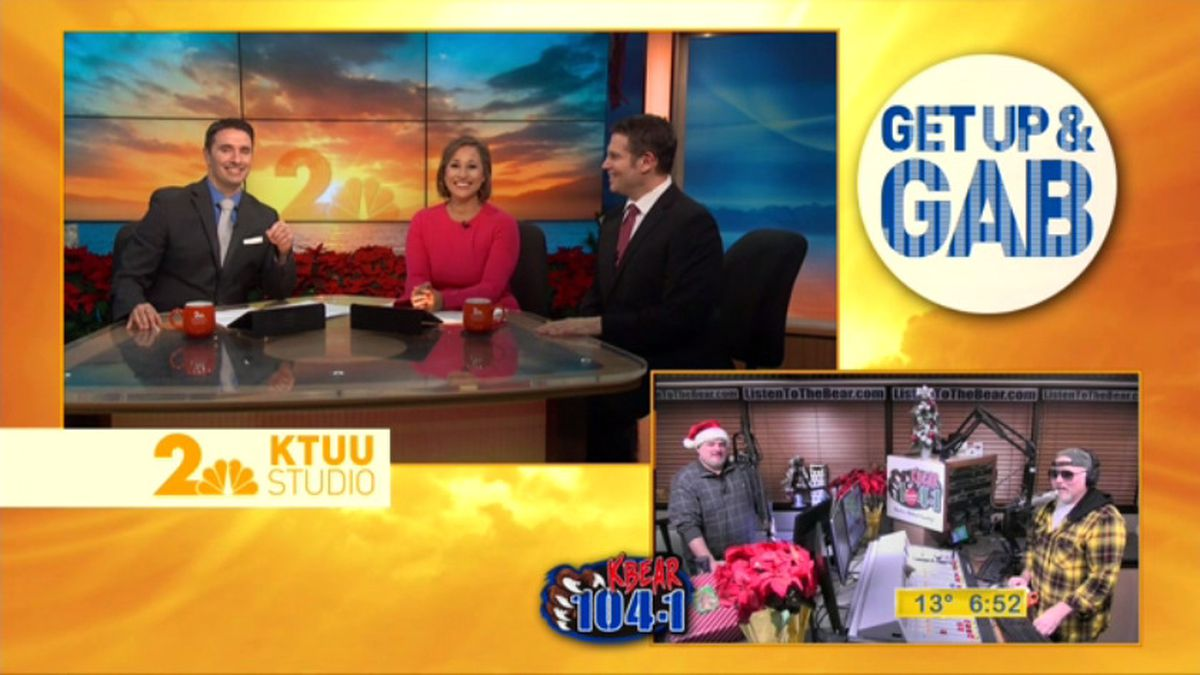 Get up and Gab with the Get up Gang, Matt and Dawson at KBEAR 104.1.