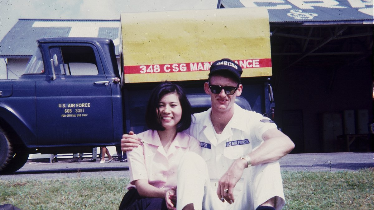 Michiyo with Harry at Itazuki Air Base IN 1966.