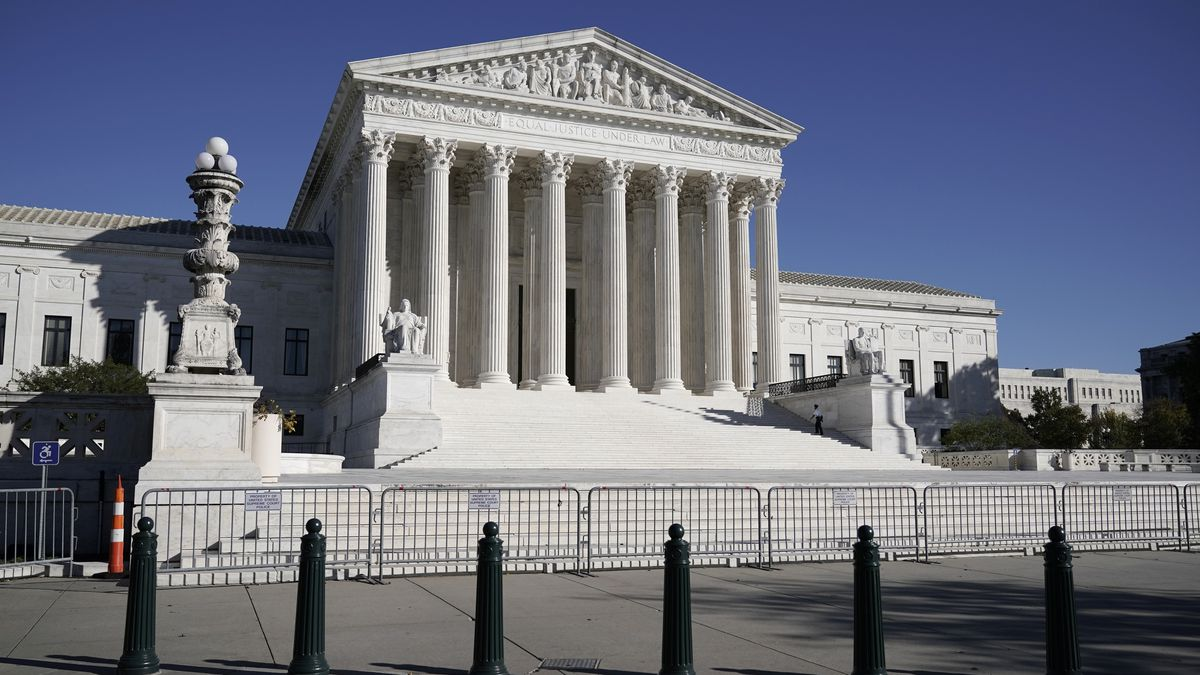 FILE - In this Nov. 4, 2020 photo, The Supreme Court in Washington. (AP Photo/J. Scott...