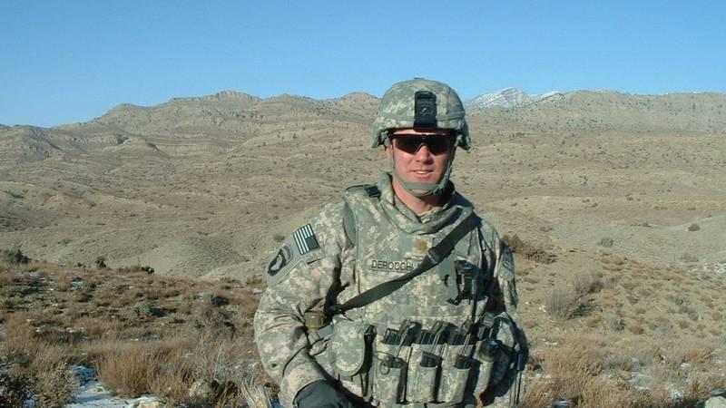 Eagle River veteran Mark DeRocchi serving overseas.