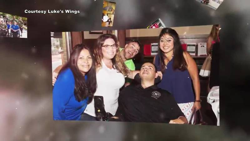 One of the families helped by Luke's Wings