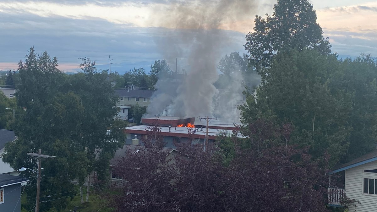 A building is on fire near the intersection of 11th Avenue and Eagle Street on Friday, July 30,...
