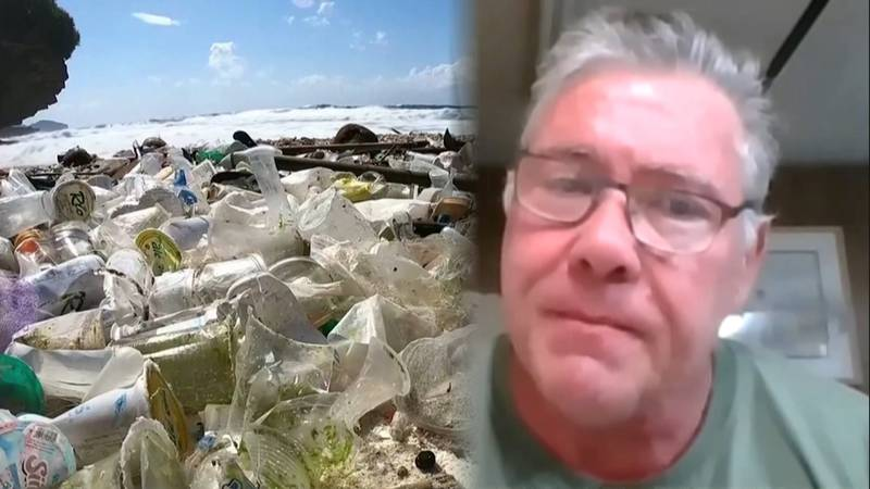 Anchorage Engineer Patrick Simpson is developing a way to turn plastic waste into building...